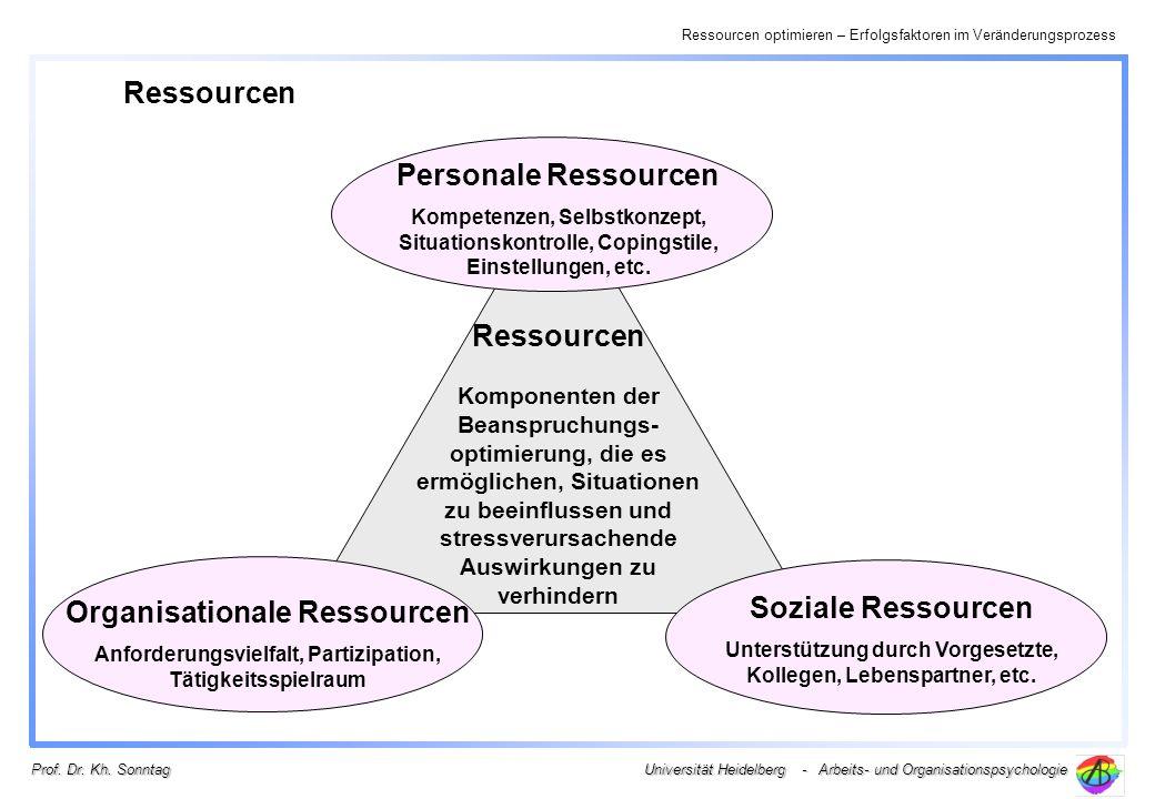 Organisationale Ressourcen Soziale Ressourcen