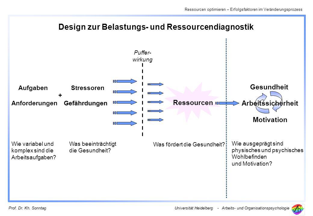 Design zur Belastungs- und Ressourcendiagnostik