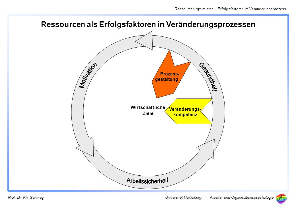 Ressourcen als Erfolgsfaktoren in Veränderungsprozessen