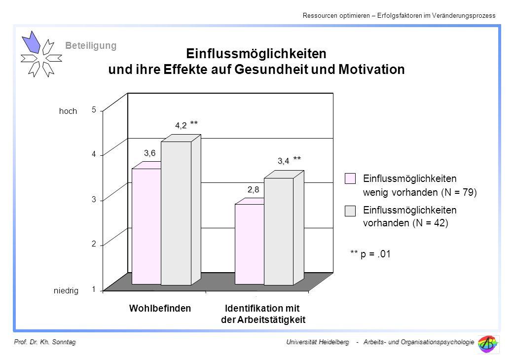 Einflussmöglichkeiten und ihre Effekte auf Gesundheit und Motivation