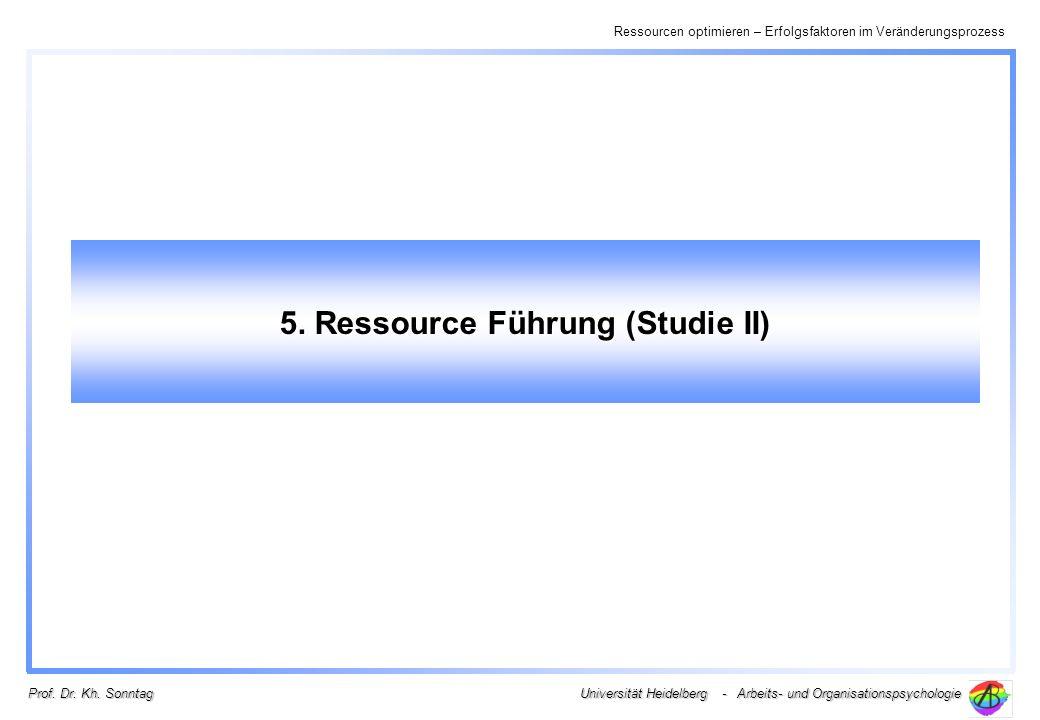 5. Ressource Führung (Studie II)