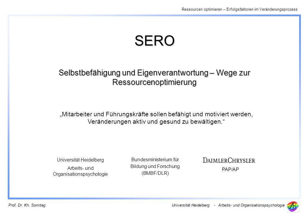 SERO Selbstbefähigung und Eigenverantwortung – Wege zur Ressourcenoptimierung.
