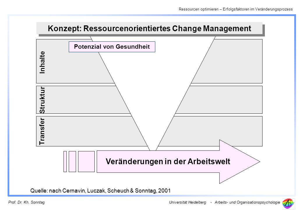 Konzept: Ressourcenorientiertes Change Management