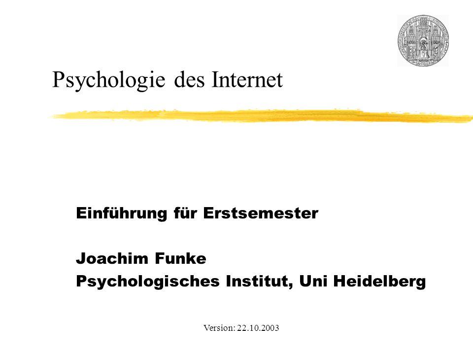 Psychologie des Internet