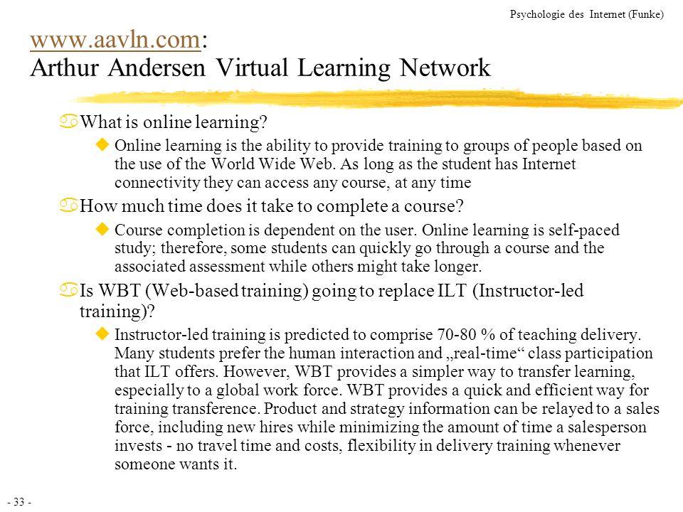 www.aavln.com: Arthur Andersen Virtual Learning Network