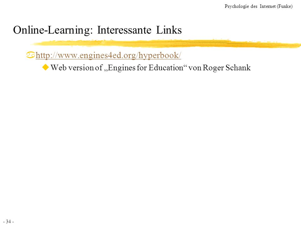 Online-Learning: Interessante Links