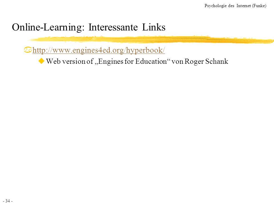 Online-Learning: Interessante Links