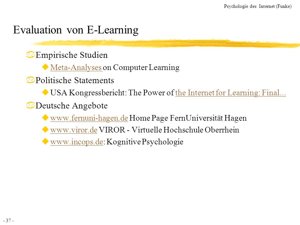 Evaluation von E-Learning