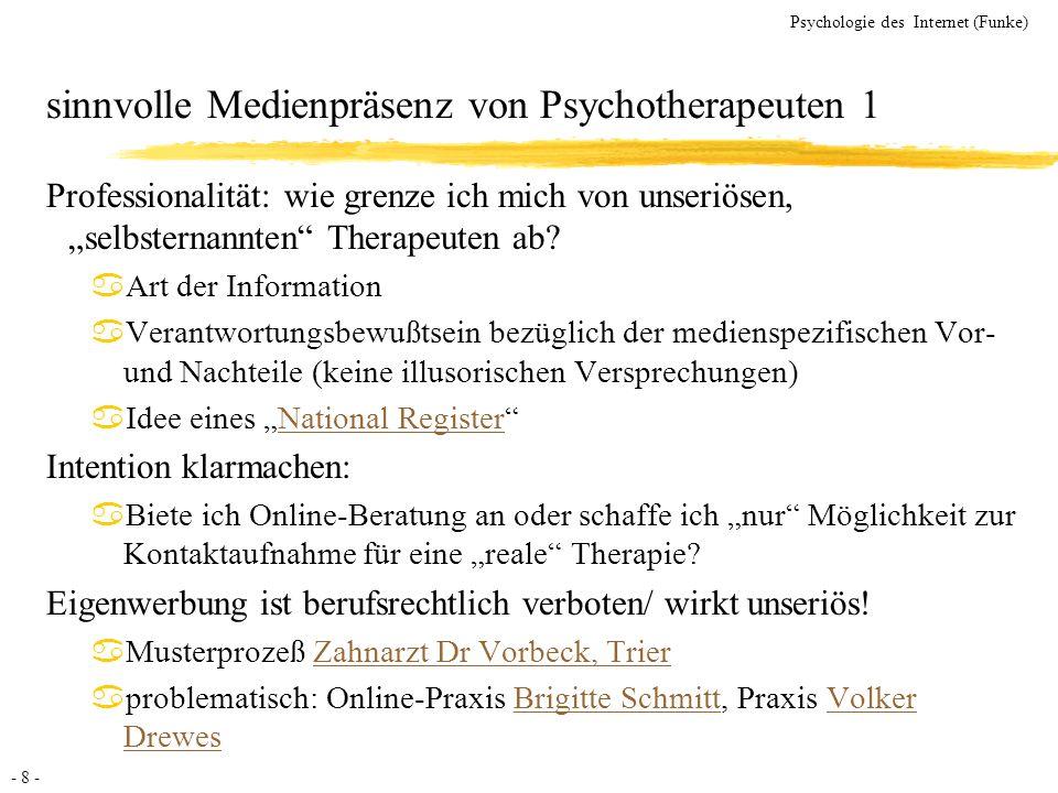 sinnvolle Medienpräsenz von Psychotherapeuten 1