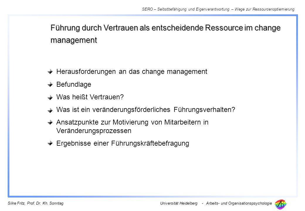 Führung durch Vertrauen als entscheidende Ressource im change management