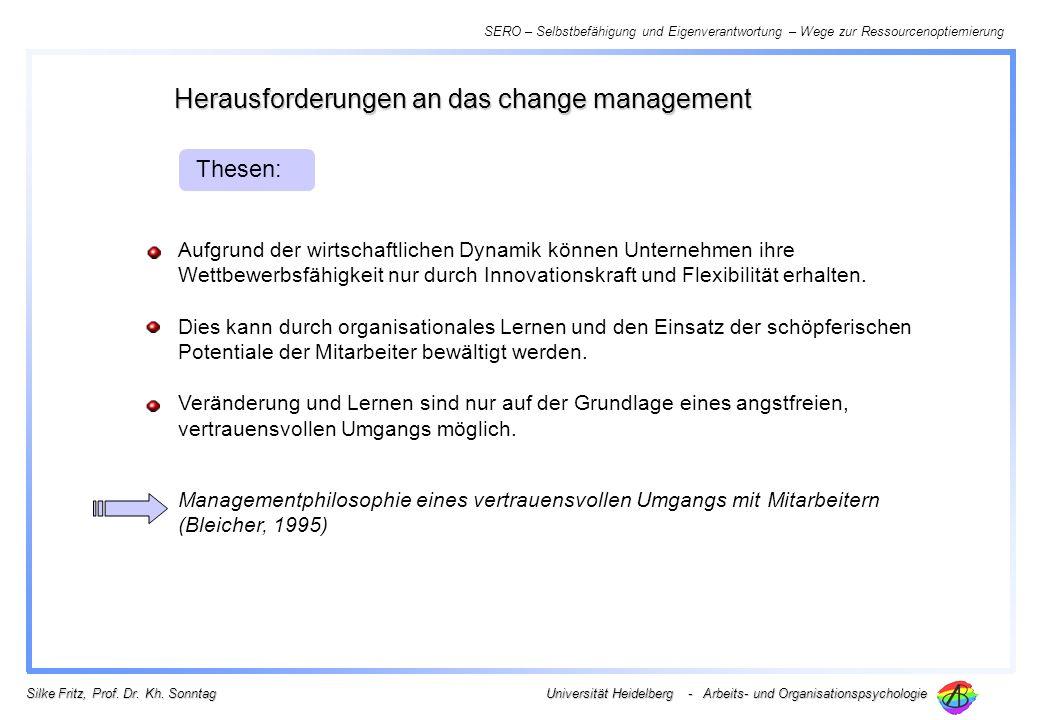 Herausforderungen an das change management