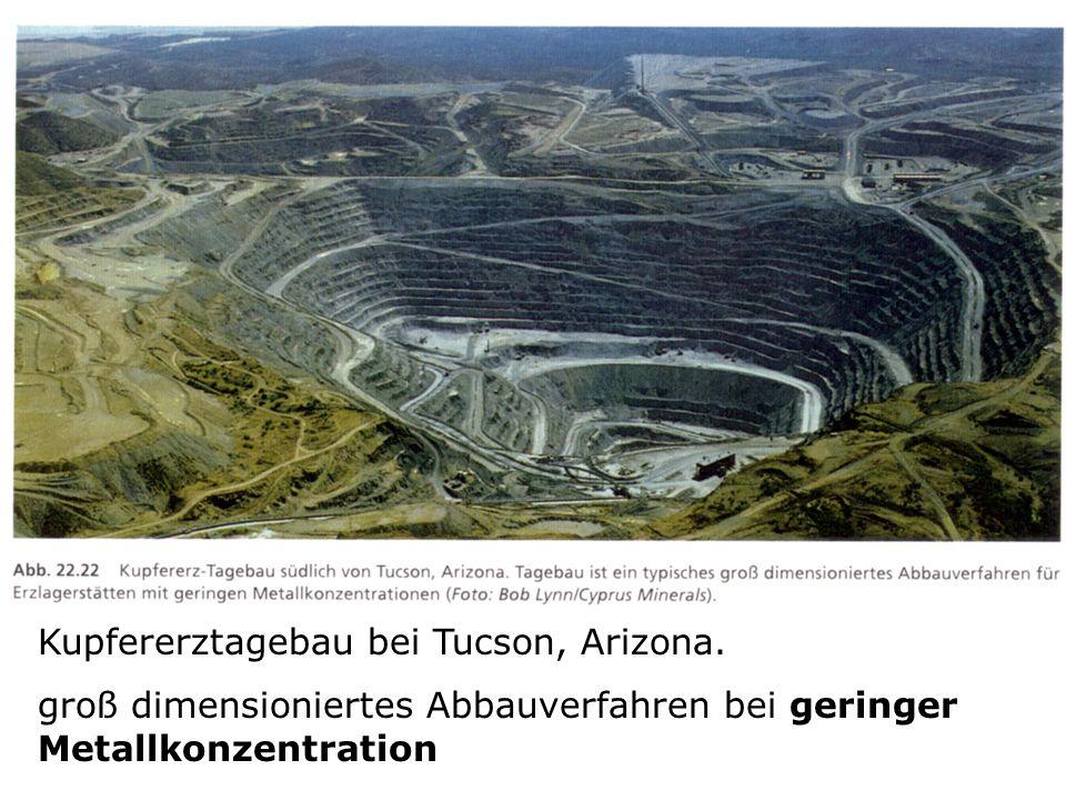 Kupfererztagebau bei Tucson, Arizona.