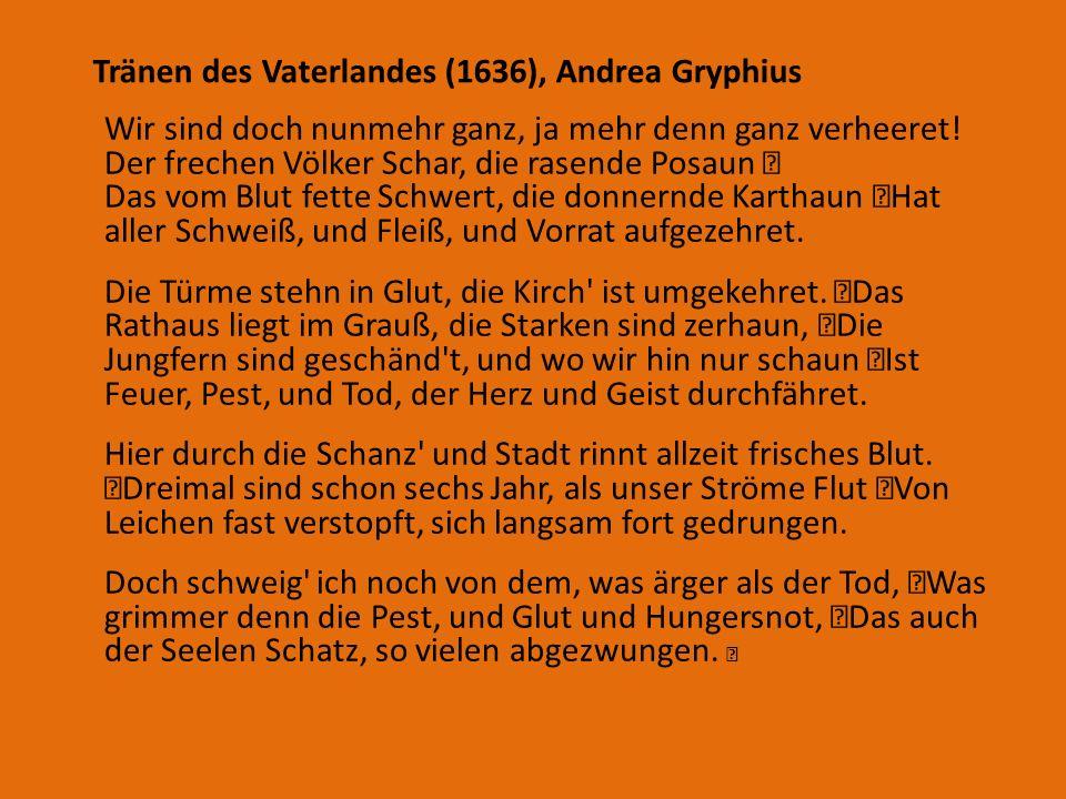 Tränen des Vaterlandes (1636), Andrea Gryphius