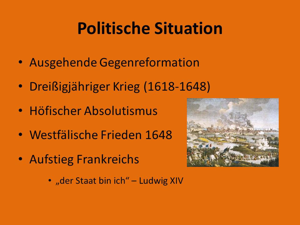 Politische Situation Ausgehende Gegenreformation