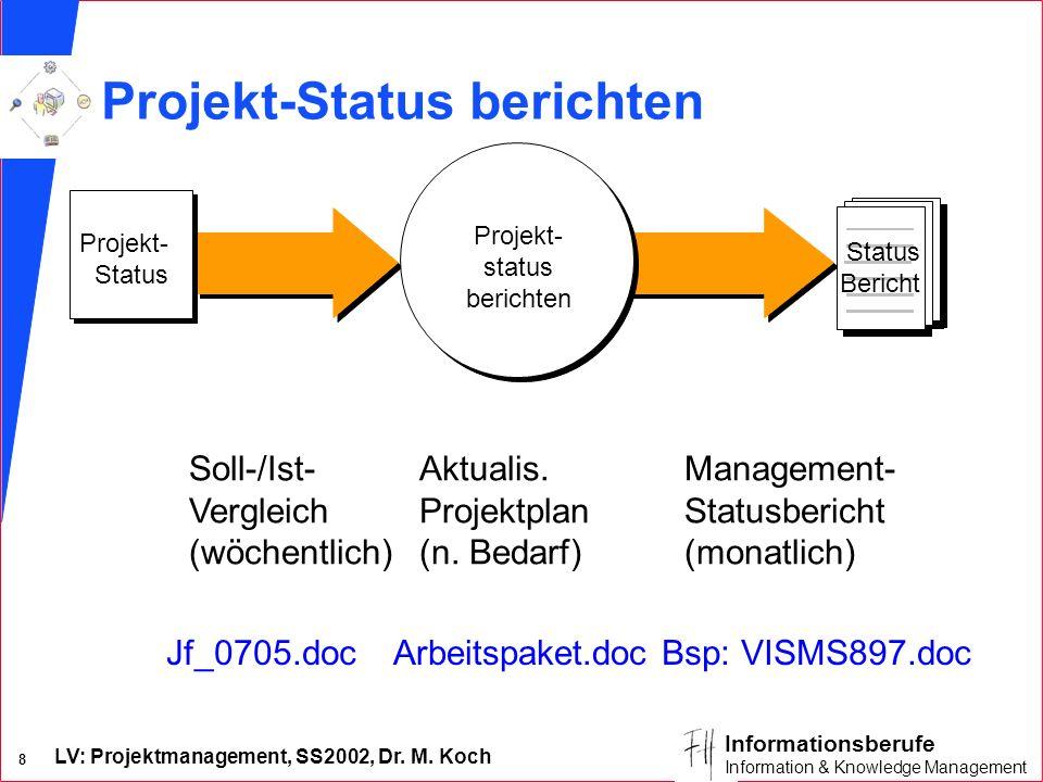 Projekt-Status berichten