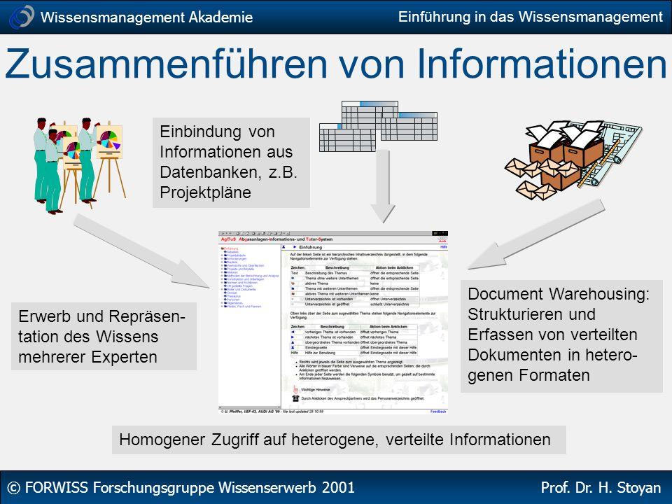 Zusammenführen von Informationen