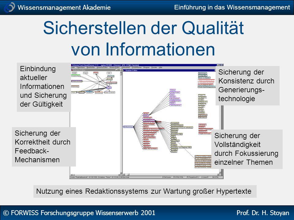 Sicherstellen der Qualität von Informationen