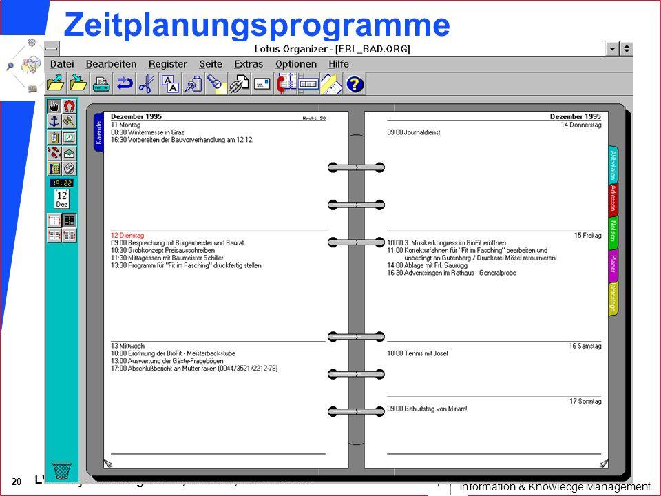 Zeitplanungsprogramme
