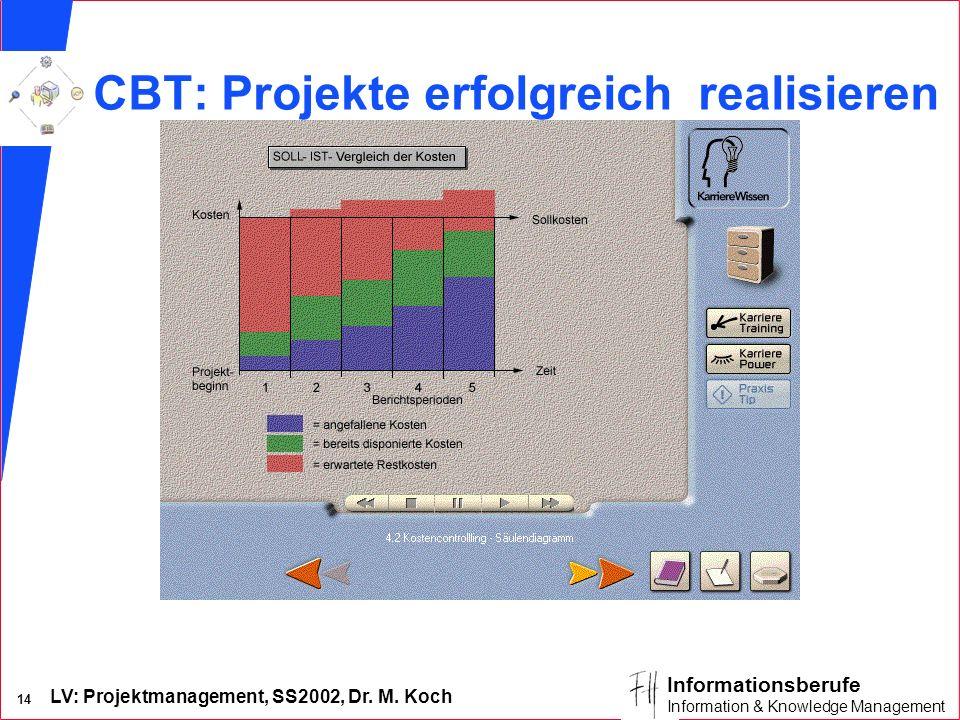 CBT: Projekte erfolgreich realisieren