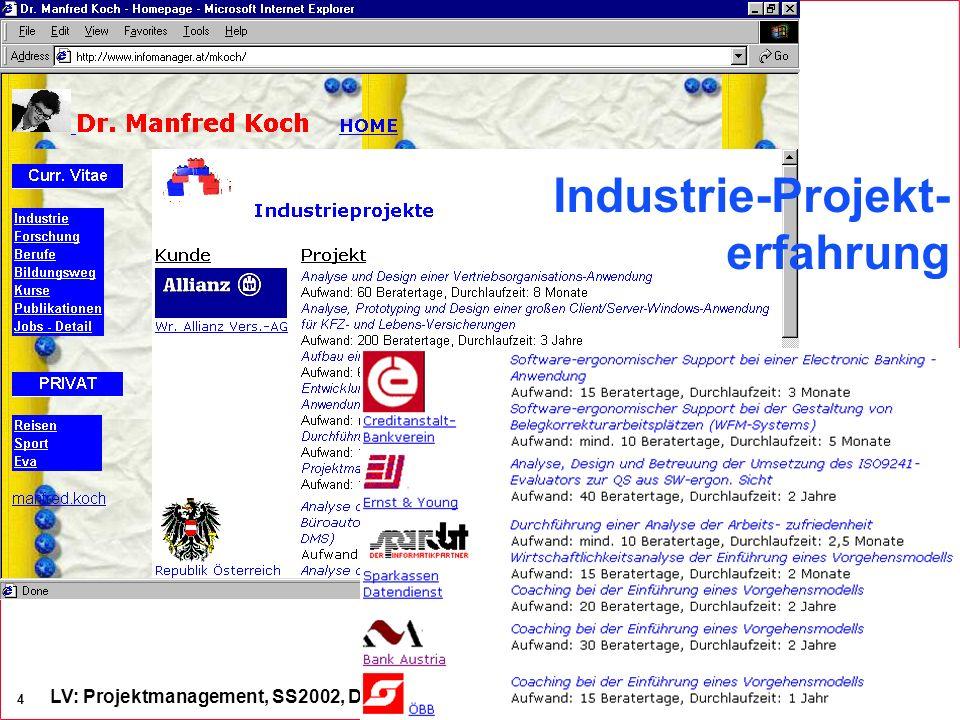 Industrie-Projekt- erfahrung