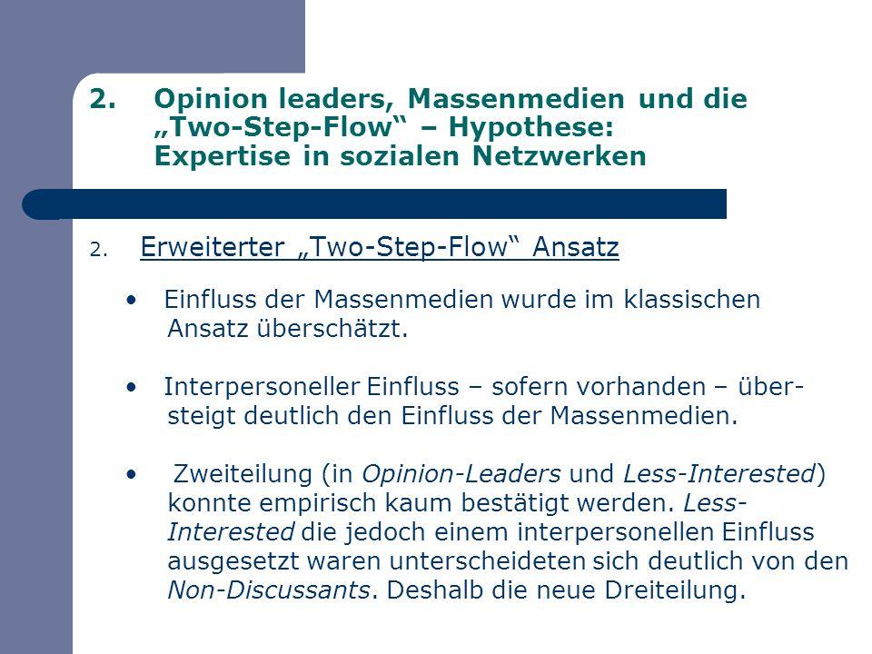 """Erweiterter """"Two-Step-Flow Ansatz"""
