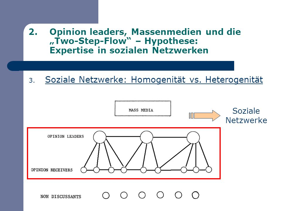 Soziale Netzwerke: Homogenität vs. Heterogenität