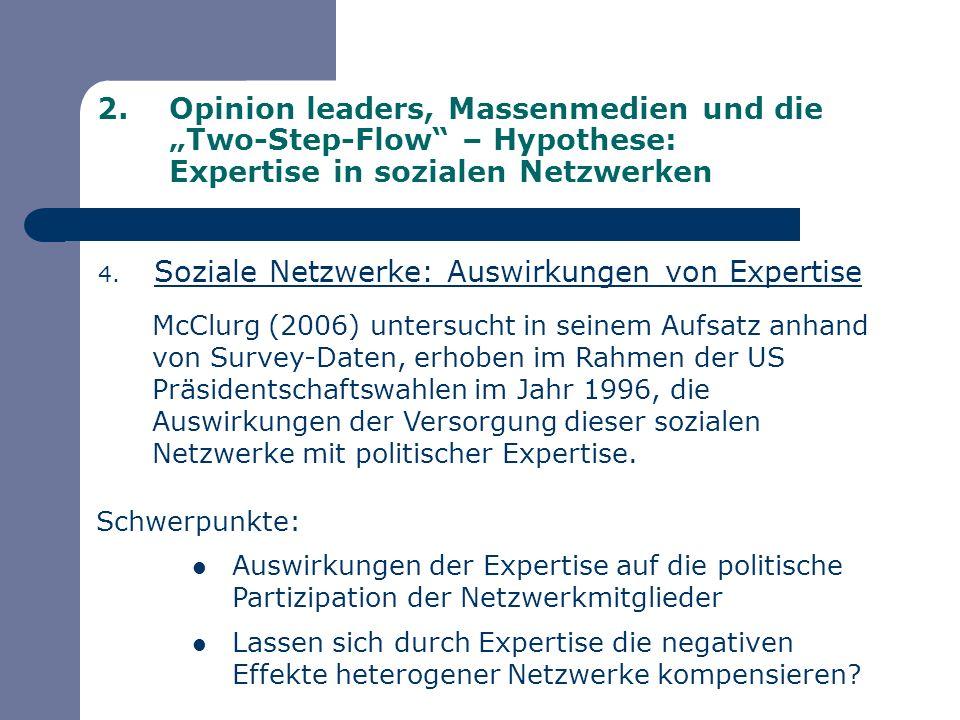 Soziale Netzwerke: Auswirkungen von Expertise