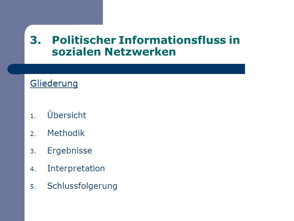 Politischer Informationsfluss in sozialen Netzwerken