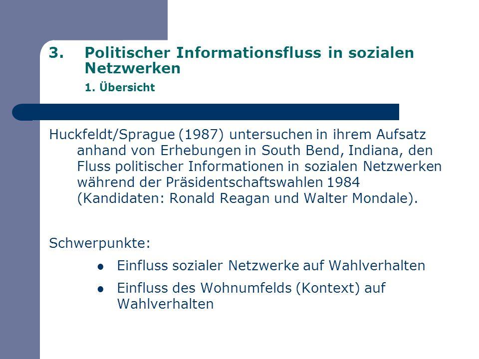 Politischer Informationsfluss in sozialen Netzwerken 1. Übersicht