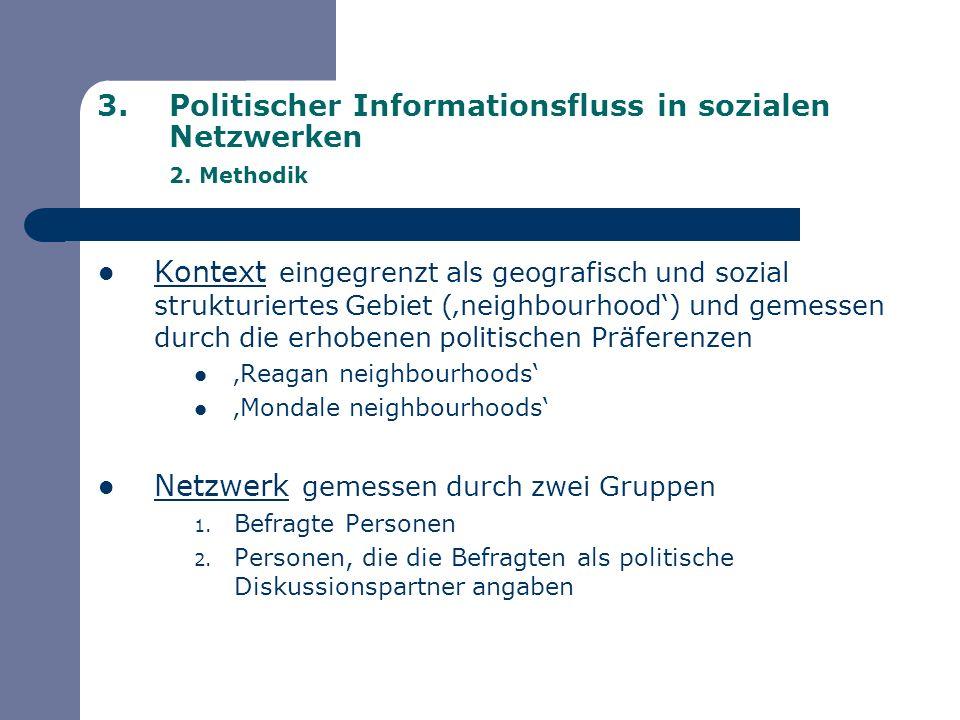 Politischer Informationsfluss in sozialen Netzwerken 2. Methodik