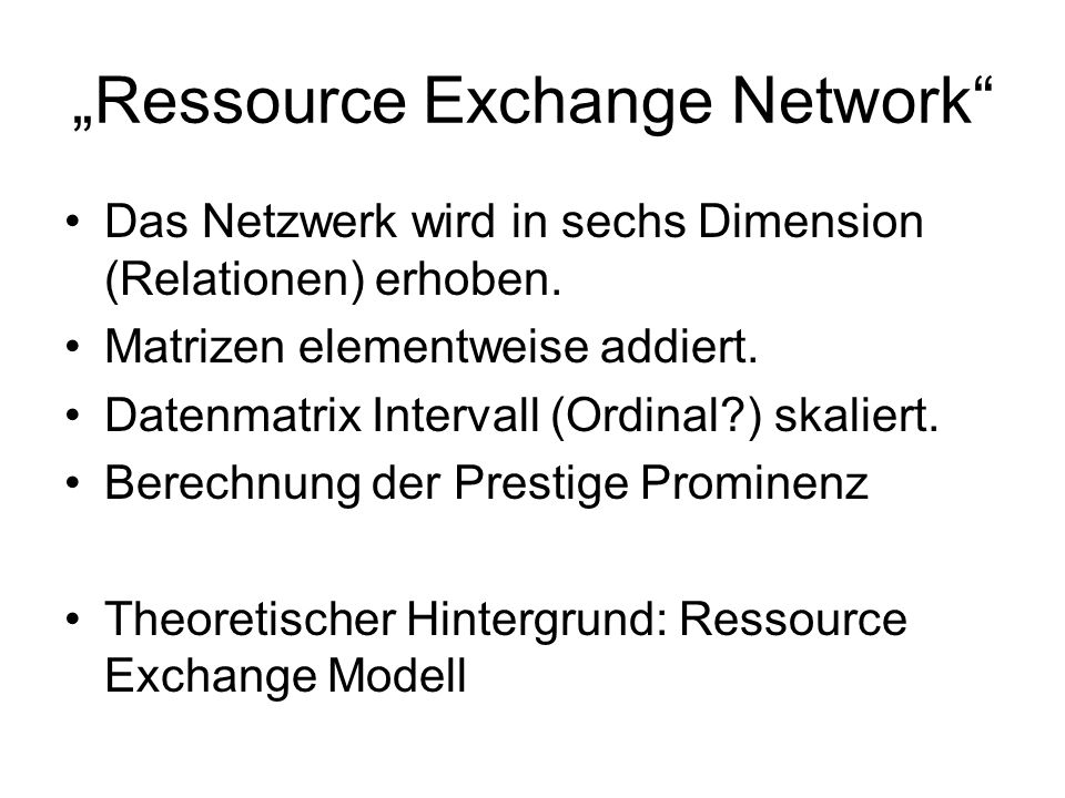 """Ressource Exchange Network"