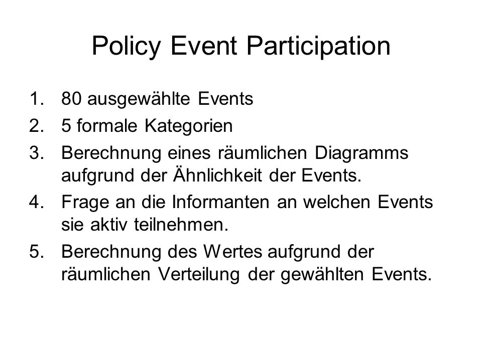 Policy Event Participation