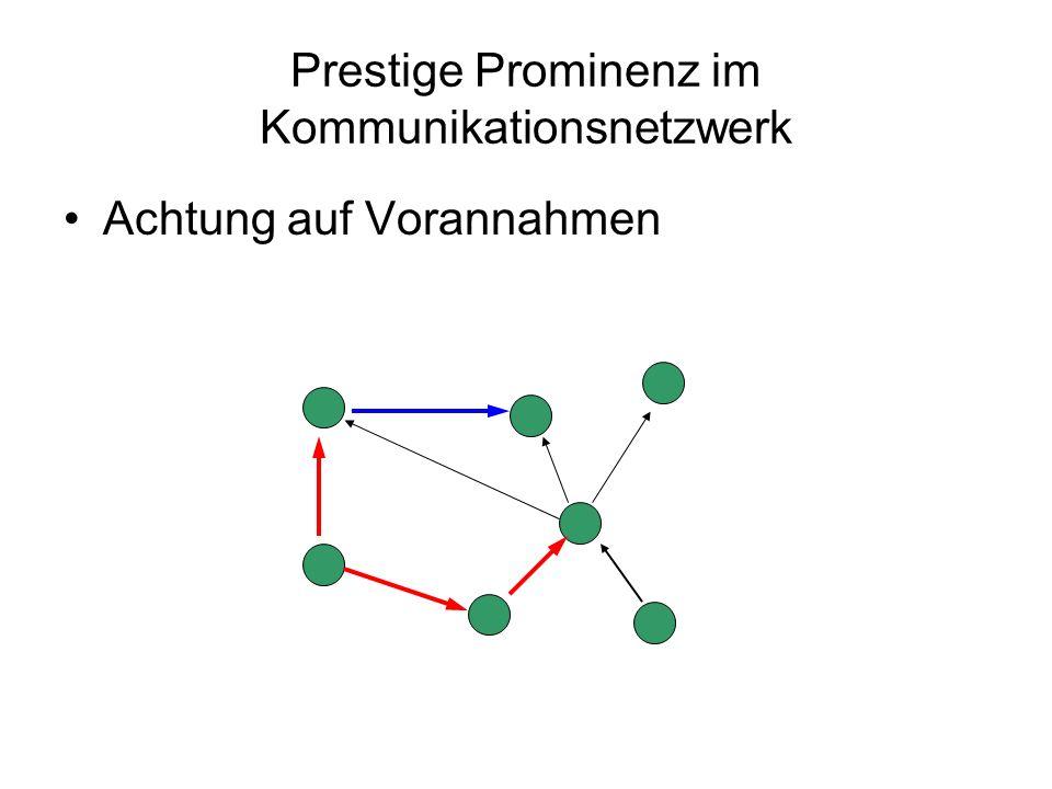 Prestige Prominenz im Kommunikationsnetzwerk