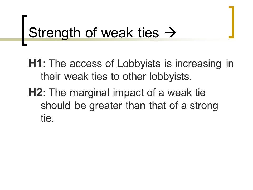 Strength of weak ties 
