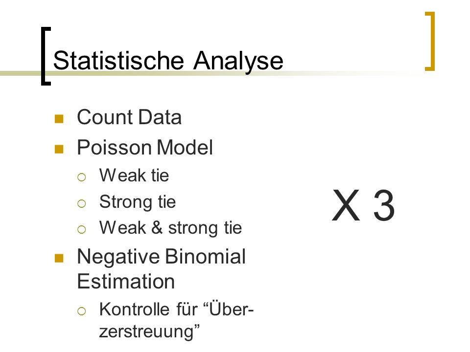 X 3 Statistische Analyse Count Data Poisson Model