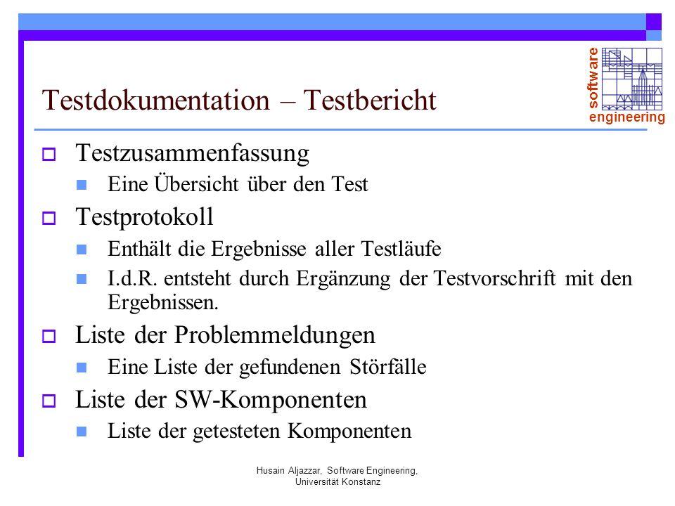 Testdokumentation – Testbericht