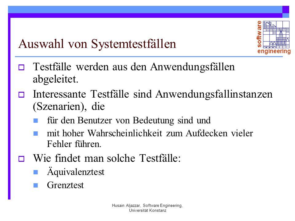 Auswahl von Systemtestfällen
