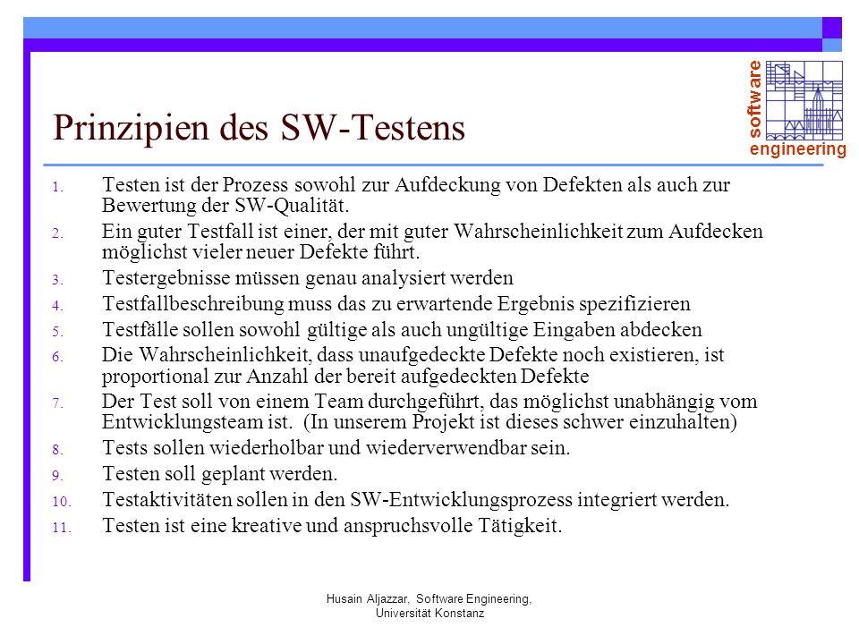 Prinzipien des SW-Testens