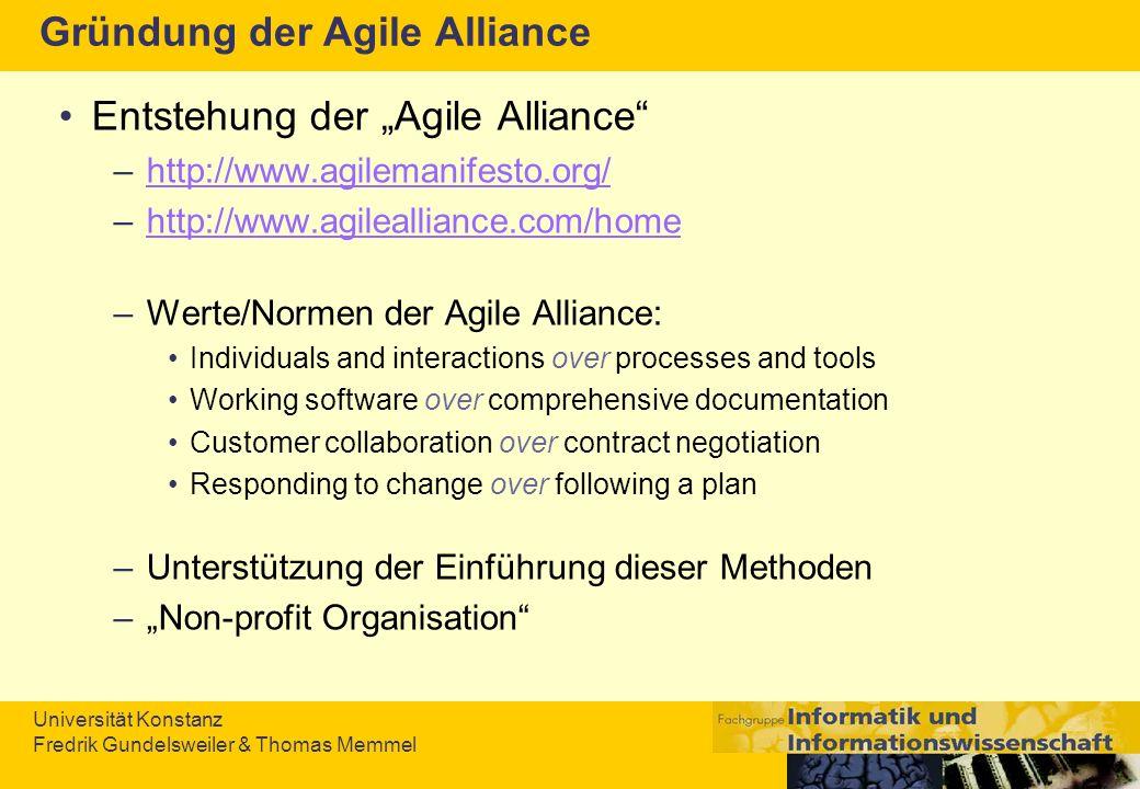 Gründung der Agile Alliance