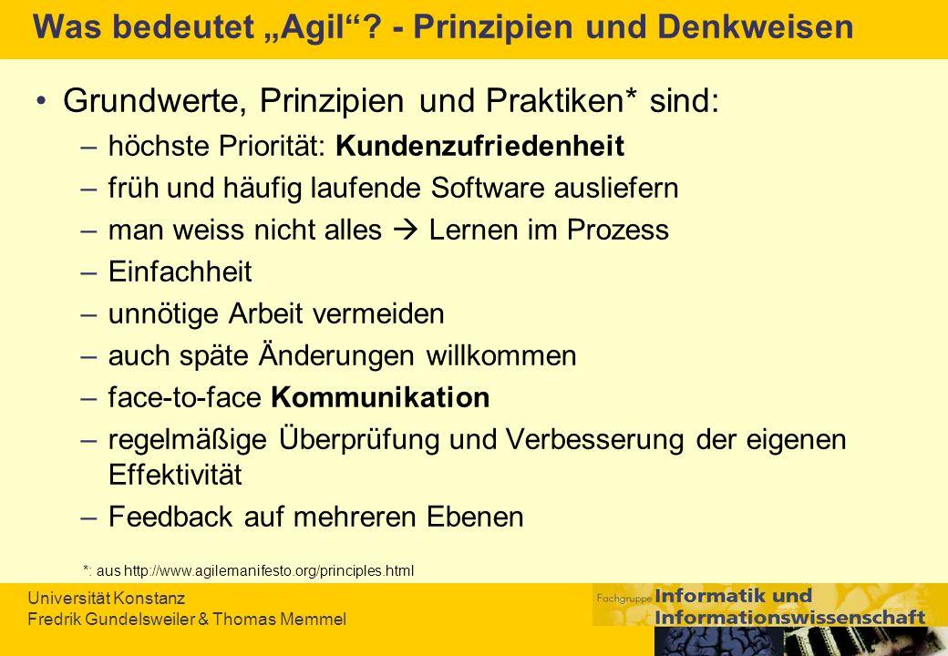 """Was bedeutet """"Agil - Prinzipien und Denkweisen"""