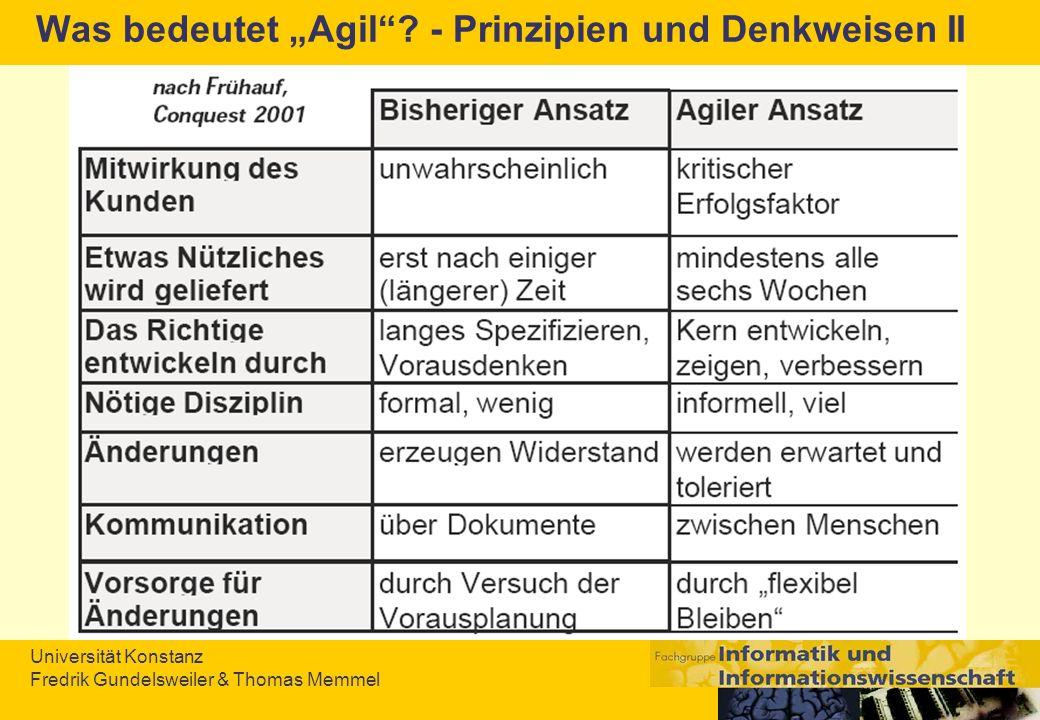 """Was bedeutet """"Agil - Prinzipien und Denkweisen II"""