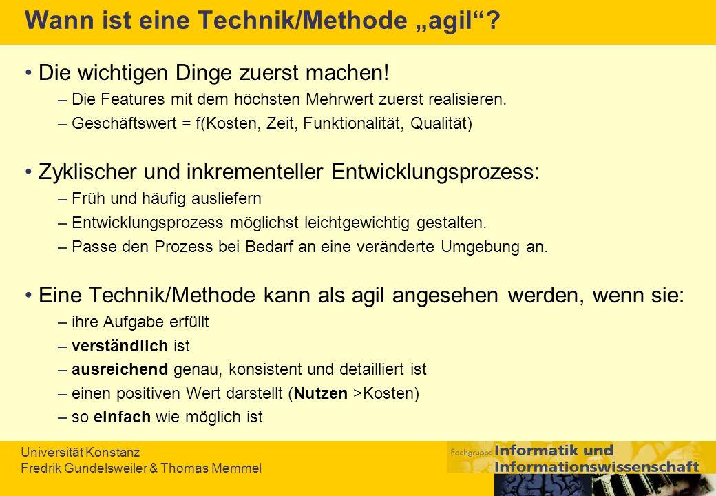 """Wann ist eine Technik/Methode """"agil"""