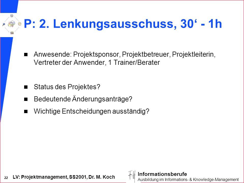 P: 2. Lenkungsausschuss, 30' - 1h
