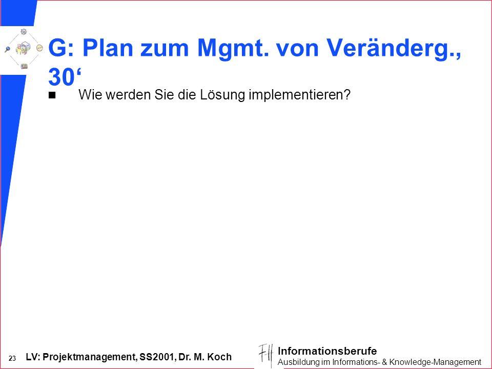 G: Plan zum Mgmt. von Veränderg., 30'
