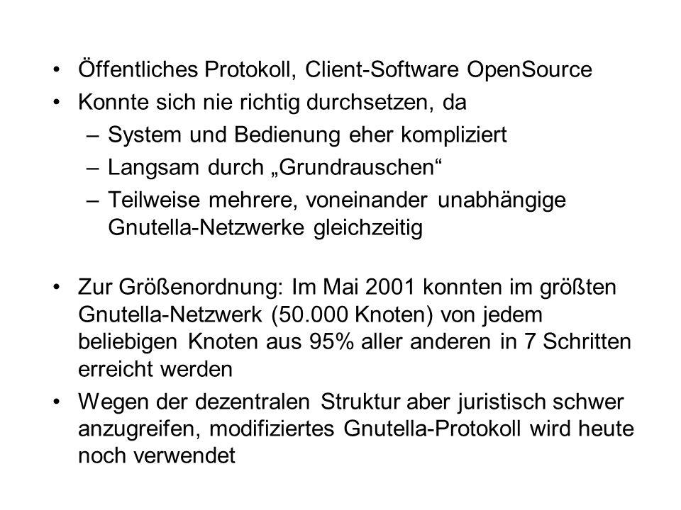 Öffentliches Protokoll, Client-Software OpenSource