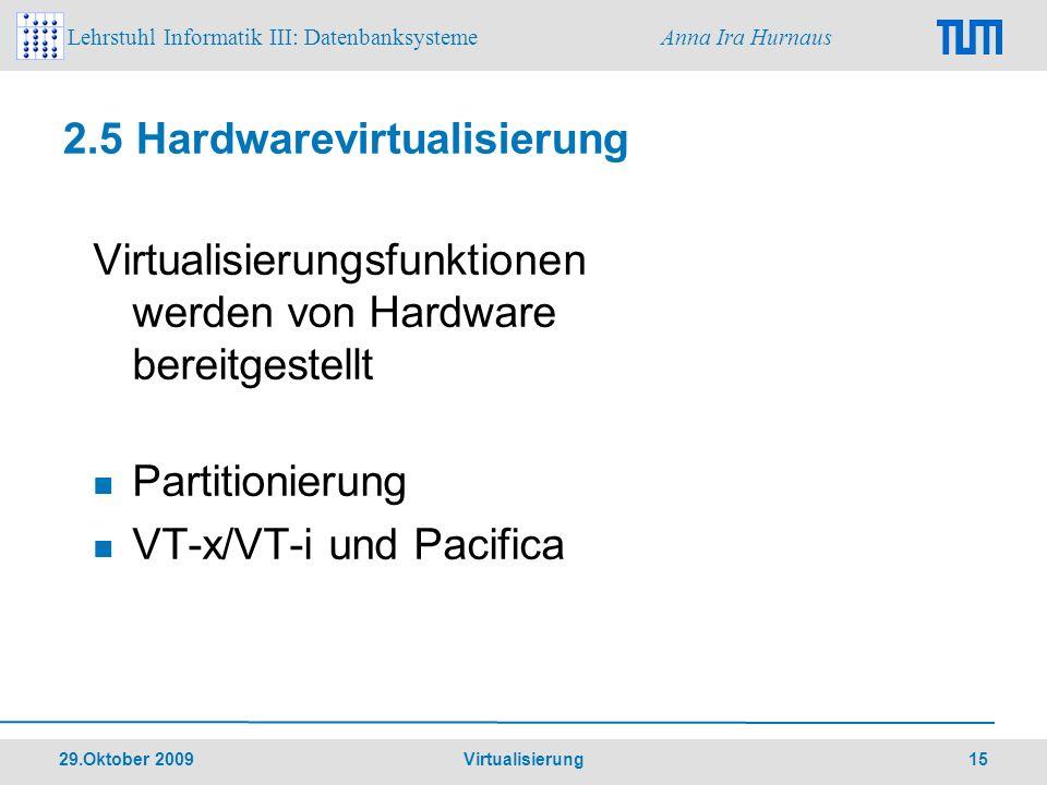2.5 Hardwarevirtualisierung