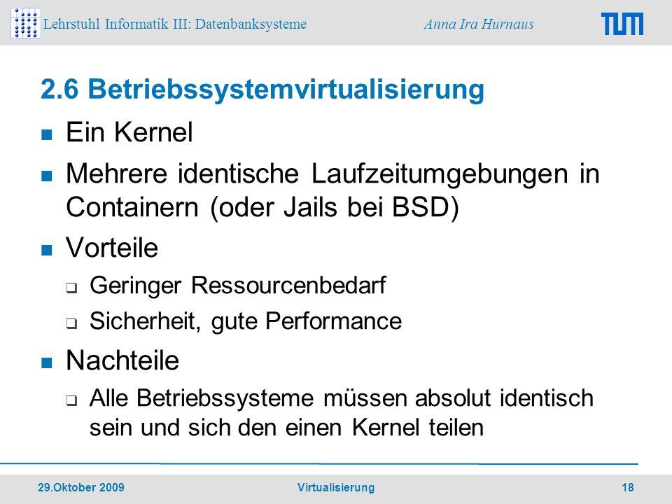 2.6 Betriebssystemvirtualisierung