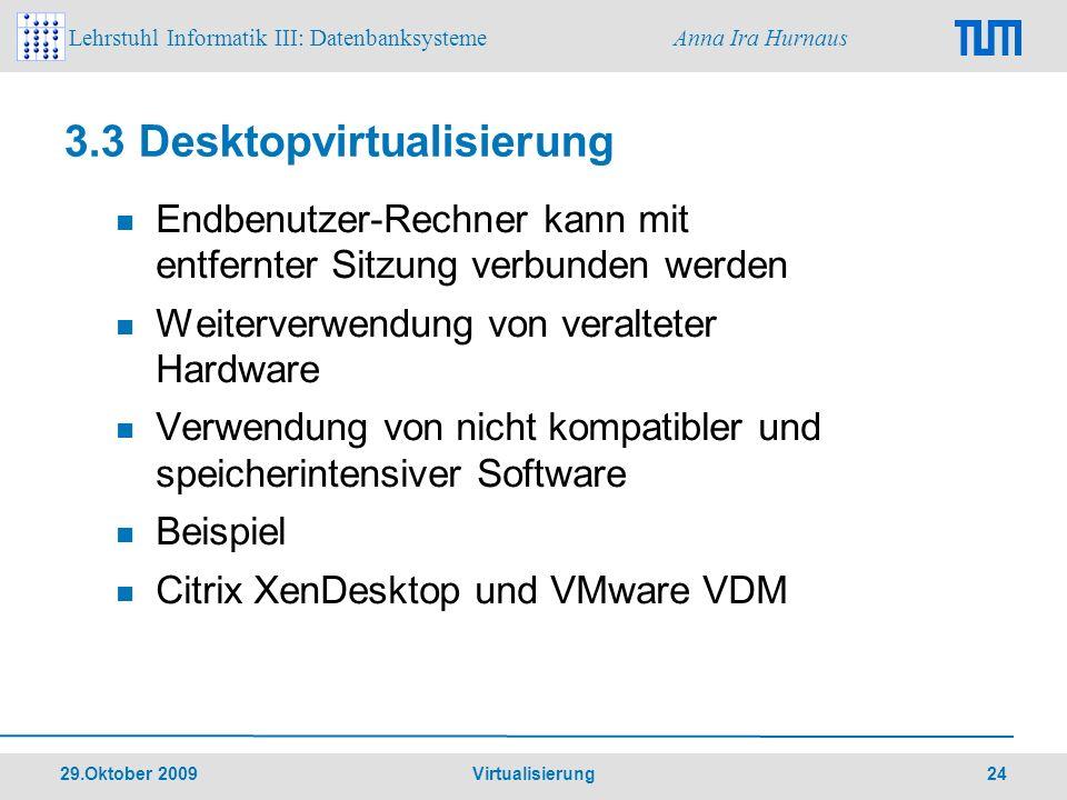 3.3 Desktopvirtualisierung