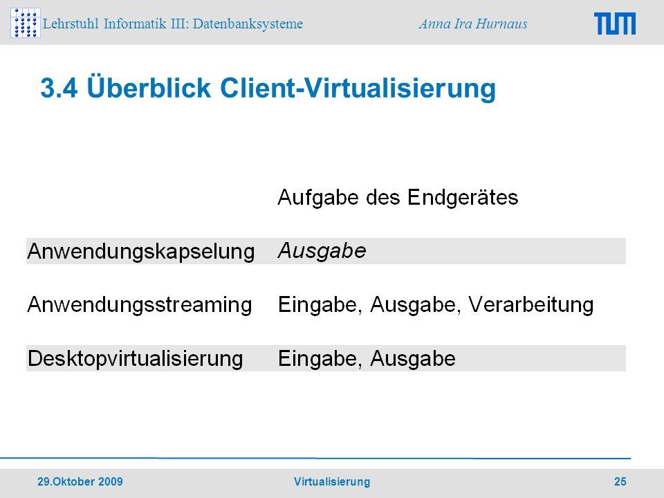 3.4 Überblick Client-Virtualisierung