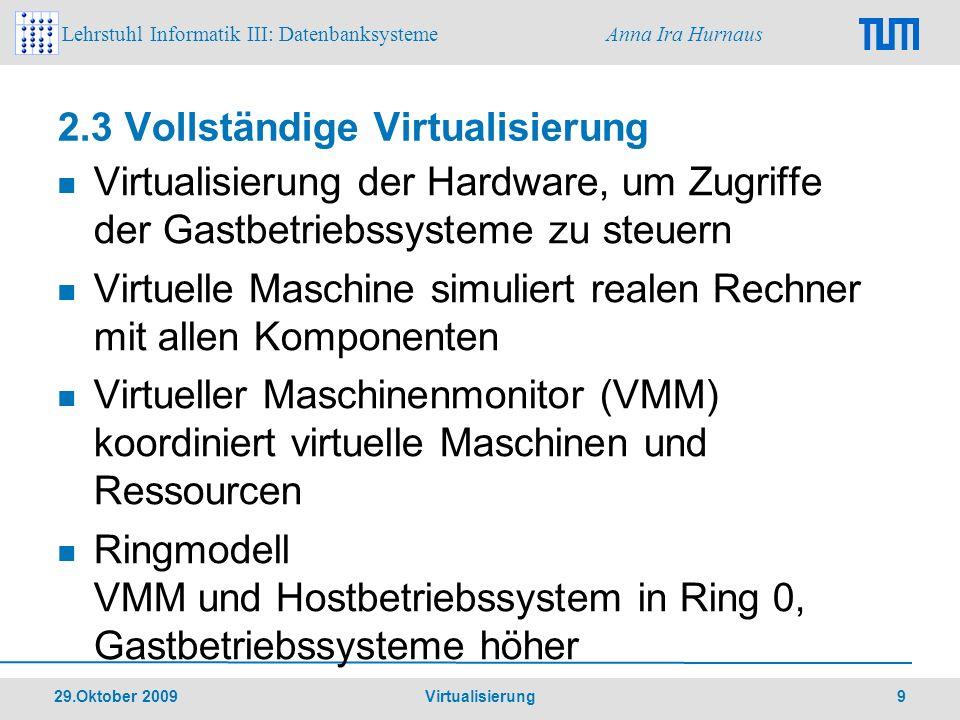 2.3 Vollständige Virtualisierung